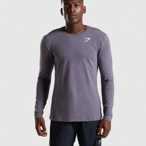 Men's Gymshark Critical Long Sleeve, Slate, XL